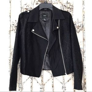 Black lace Moto Jacket!😎